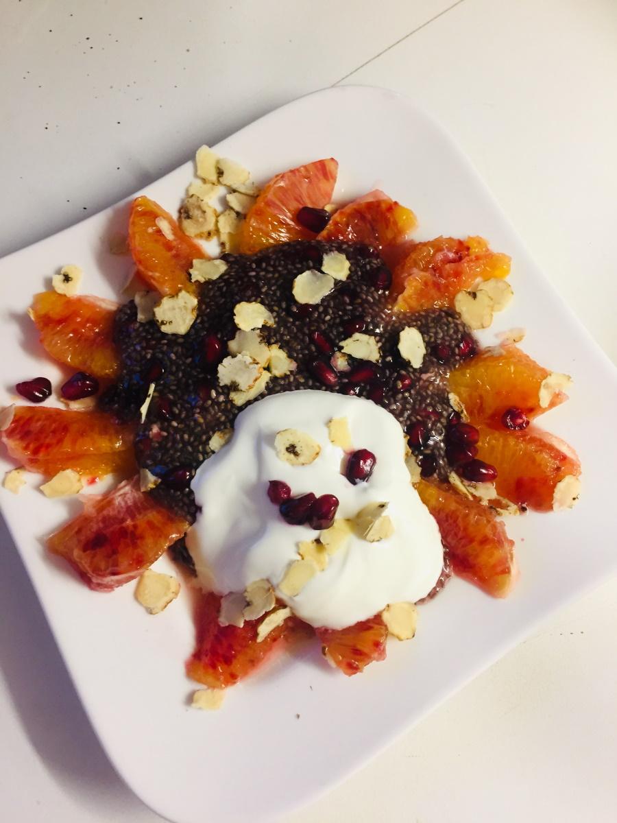 Chia Pudding mit Blutorange